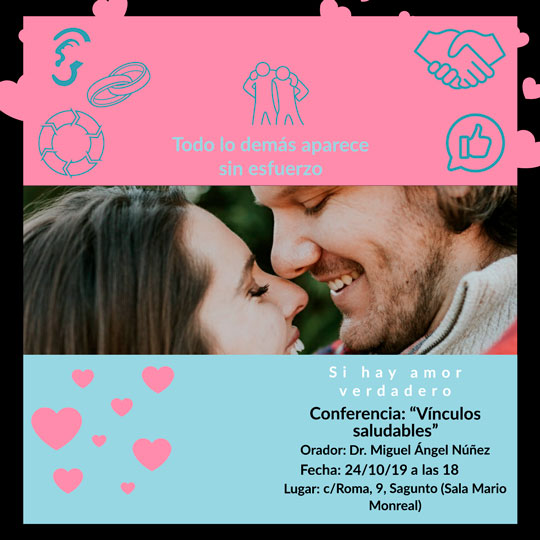Próxima conferencia: Vínculos saludables
